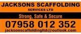 Team Sponsor - Jacksons Scaffolding Services Ltd