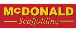 1st XV  Main Team Sponsor - McDonald Scaffolding