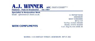 A J Winner Plasterers