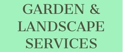 Player Sponsor- Paul Cairncross - GARDEN & LANDSCAPE SERVICES