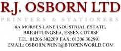 Sponsor - RJ Osborn LTD