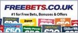 Club Sponsor - Free bets