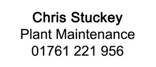 Chris Stuckey Plant Maintenance