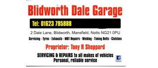 Blidworth Dale Garage