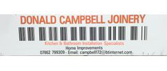 Sponsor - Donald Campbell Joinery