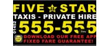 Advertising hoarding - Five Star Taxis