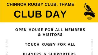 Club Day - Saturday 13th July