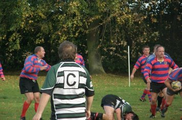 Keith Hello Sailor House heads for the ball, with Linford again taking the game to Ash