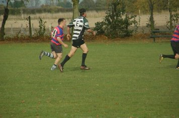 Dan Brennan shows such amazing pace that he has lost a foot as the friction takes hold