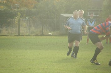 The ref approaches - never far away from the action