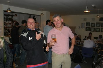 Plewsey does his best to hide his Betts shirt with his trigger finger as Jimmy makes sure we know he turned up