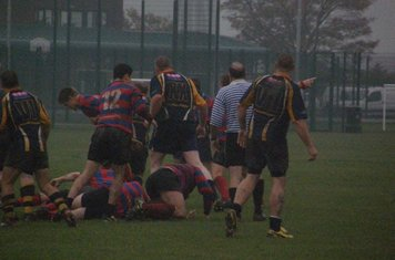 A familiar picture on a wet day as bodies pile up