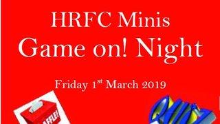 HRFC Minis Game on! Night