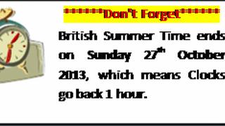British Summer Time Ends