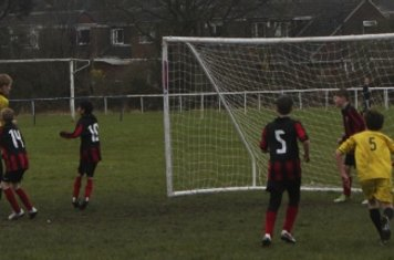 The 'keeper under pressure as Northowram look for an equiliser