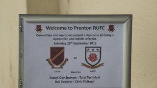 Prenton 1st XV vs West Park 3rd XV - 28/09/19