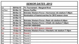 2012 Senior Season