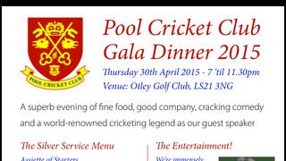 Gala Dinner 30th April