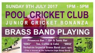 Junior Cricket Bonanza  - Sunday 9th July from 1pm onwards