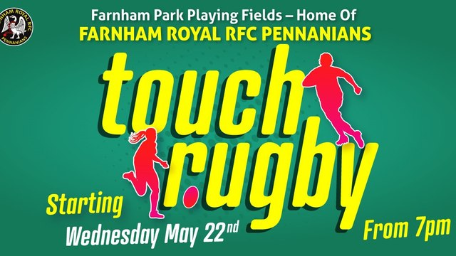 Summer Touch Rugby 2019 - Starts Wed, 22 May
