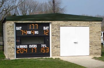Lastly, the electronic scoreboard is installed by ESU Ltd and a lick of white paint completes the job in time for the new 2011 season!