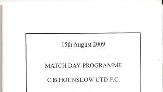 CB Hounslow Utd 2 Knaphill 4 - 15 August 2009