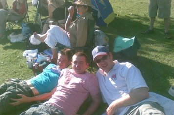Watching the 2s at Calverley in 2009