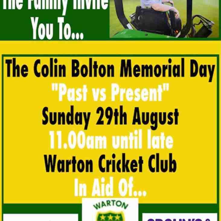 Colin Bolton Memorial Match