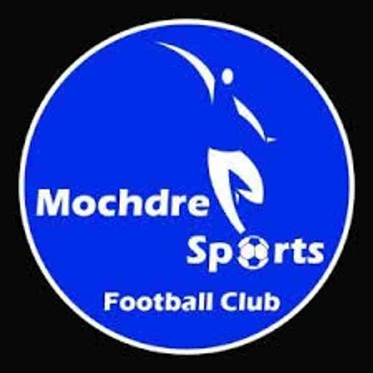Mochdre Sports looking for away Pre season Game