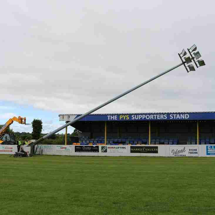 Llangefni Town Replacing floodlights