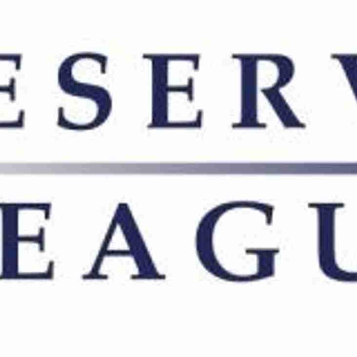 Reserve league for 2019/20 season