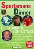 Harrogate Railway Sportsmans Dinner Lee Sharpe & John Stiles