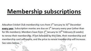 2019 Club membership now due