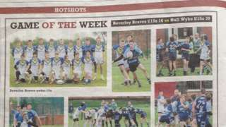 U14's feature in Hull Daily Mail game of the week