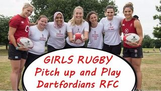 """Dartfordians are hosting a Girls """"Pitch up and Play"""" rugby taster sessions - Sunday Nov 27th"""