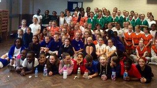 100 Girls attend Schools Fun Festival at Dartfordians