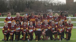 Darts U13's girls hit East London with our 20 strong army of maroon and gold