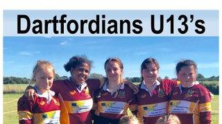 U13's Girls lose despite their sterling efforts