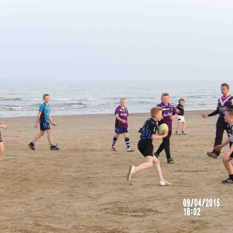 Under 12's Seaside training
