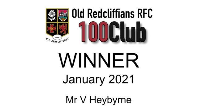 January 100 Club Winner