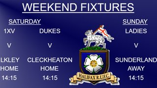 Halifax RUFC weekend preview 19/1/2019 (1xv, Dukes & Ladies)