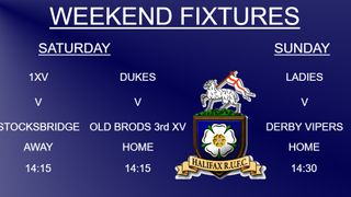 Halifax RUFC weekend preview 23/2/2019 (1xv, Dukes & Ladies)