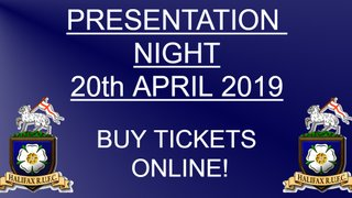 Presentation Night Ticket Available Online