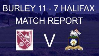 BURLEY V HALIFAX - MATCH REPORT
