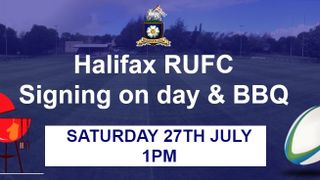 Halifax RUFC Signing on Day 27th July