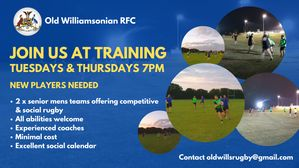 Come and join us at training