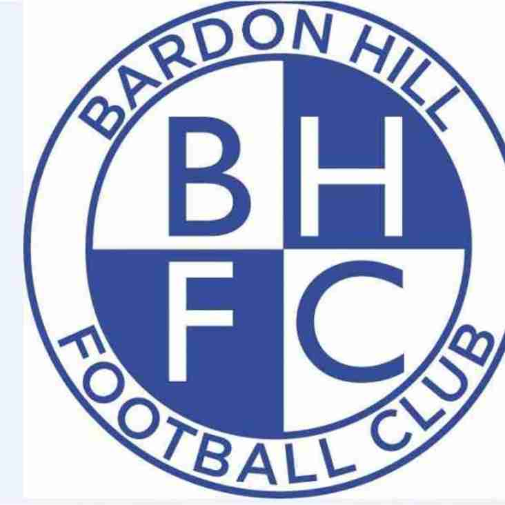 £50K Cash Injection For Bardon Hill