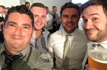 Lads at Richard Pearce's charity fight night