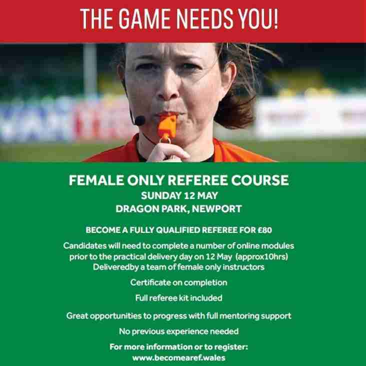 Female Only Referee Course