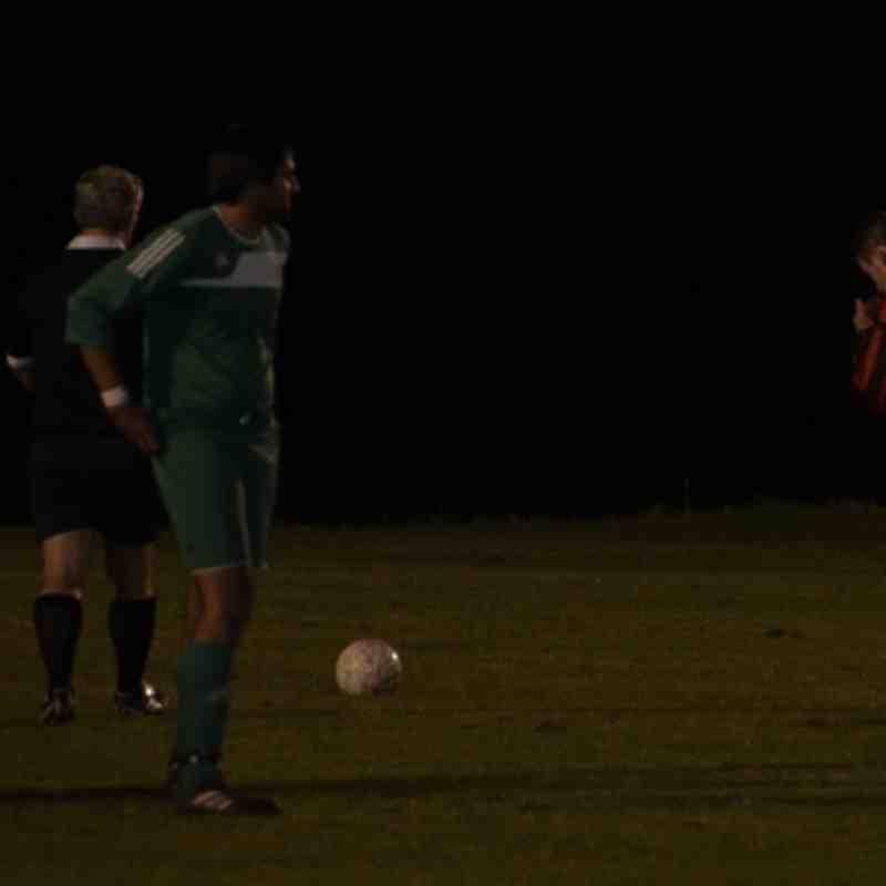 Sean Pritchard prepares to take his second penalty ........................